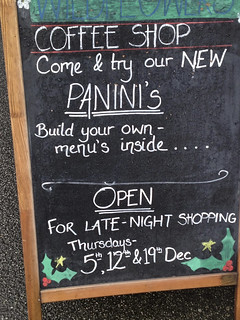Falmouth cafe sign.
