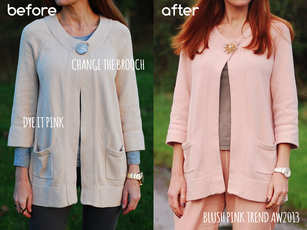 Blush pink Autumn Winter 2013 DIY before & after