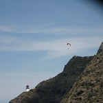 Paraglider over the cliff, Oahu