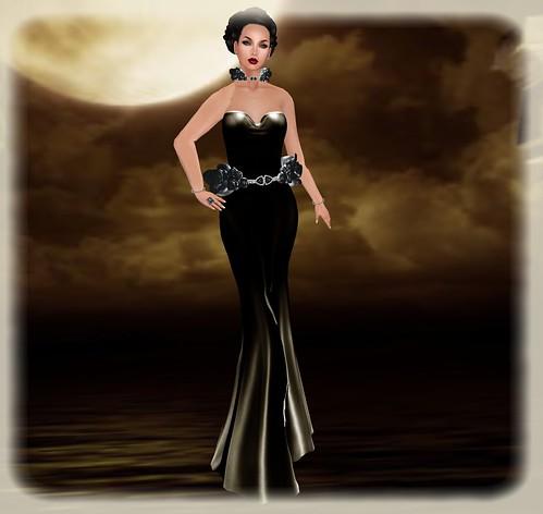 FINESMITH BALI gown black (wear me) by Orelana resident