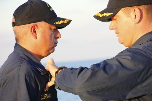 Commander Dan Cobian relieved Commander George Kessler, Jr. as the Commanding Officer