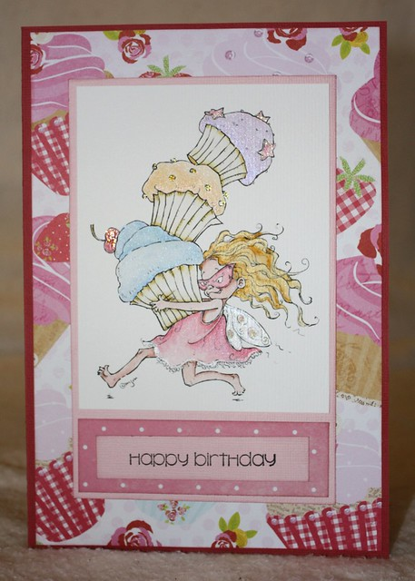 Cupcake Thief Birthday Card