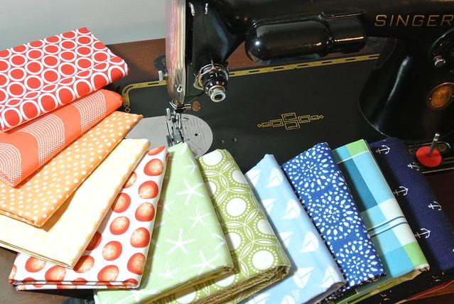 Quilt fabric pull
