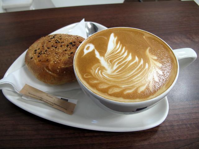 Latte art Schwan
