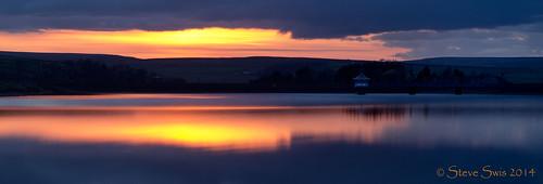 uk sunset england reflection water night europe bradford britain yorkshire reservoir april oxenhope leeming 2013 brontecountry jstevesw samsungnx5