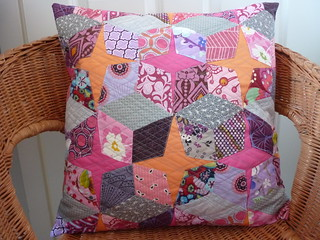 Diamonds, kites and stars EPP cushion