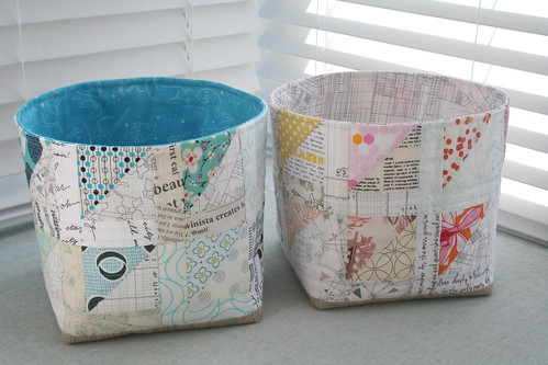 Fabric Bowls for my Sew Sew Modern partner