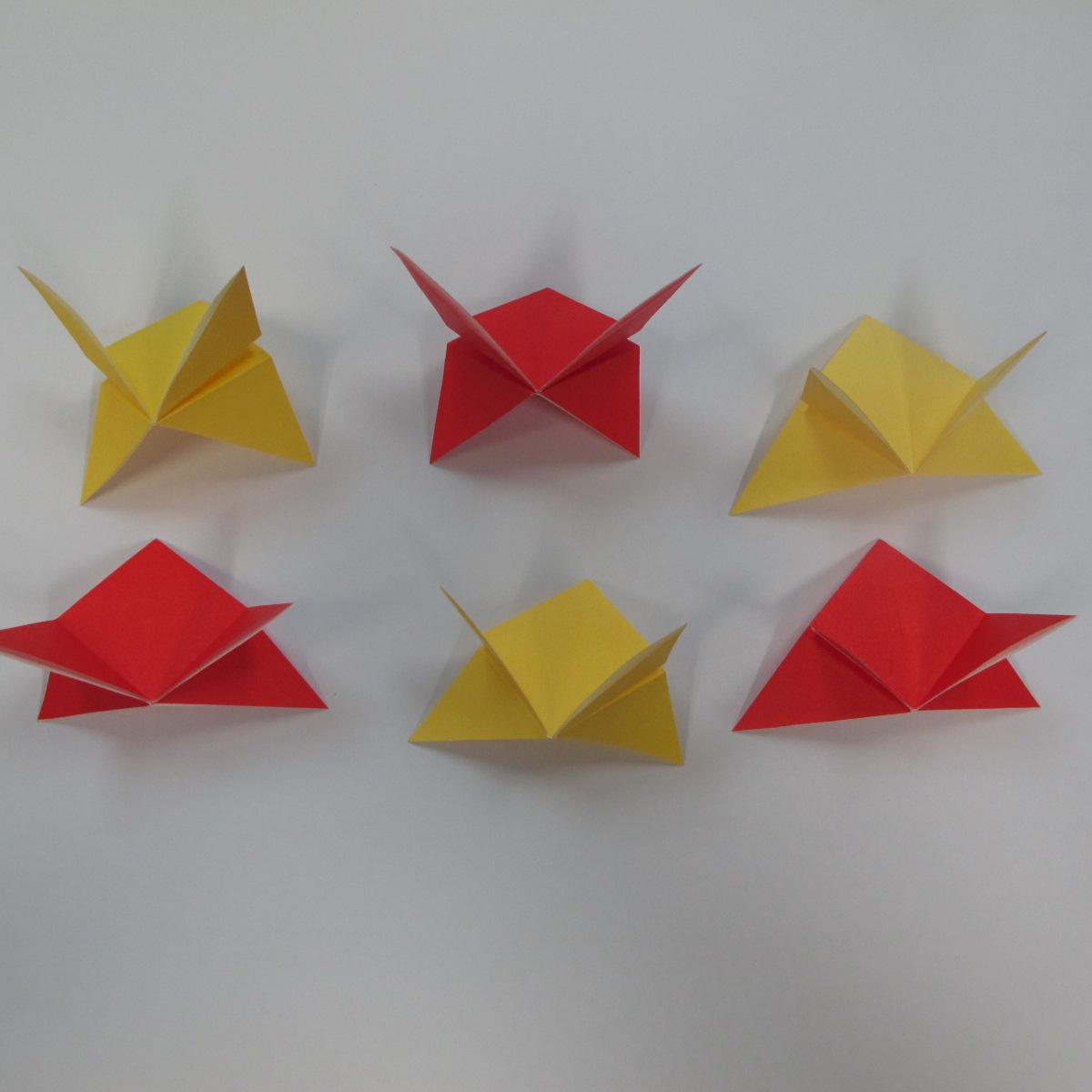 วิธีการพับกระดาษเป็นดาวหกแฉกแบบโมดูล่า 008