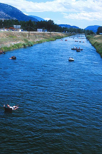 Canal Float, Penticton, Okanagan Valley, British Columbia, Canada