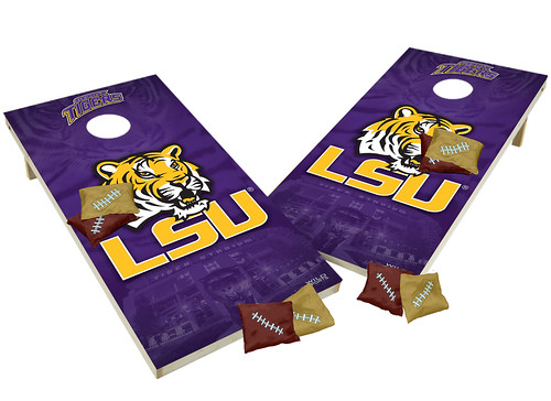 View ProductLSU Tigers Custom Cornhole Boards XL