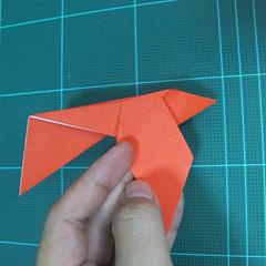 การพับกระดาษเป็นนกพิราบ (Origami pigeon) 00027
