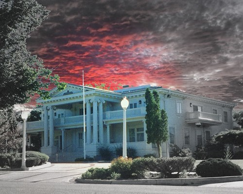city sunset sky house film architecture clouds 35mm carson nevada ferris historic nv architect marker historical classical sw mansion tours attraction governors revival 259 nrhp onasill