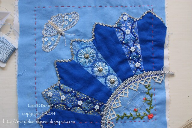 Fan #2 DYB Judy's block by Lisa WIP