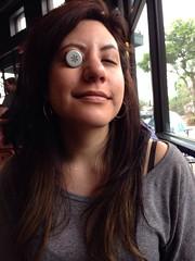 Bottle cap eye #Starbucks #Cherine