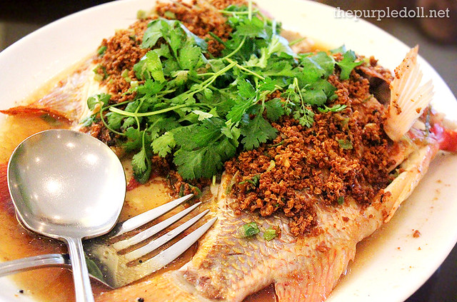 Steamed King Fish with Touso Soya Sauce