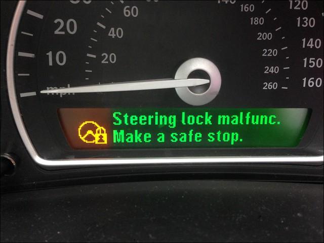 Re Steering Lock Malfuction