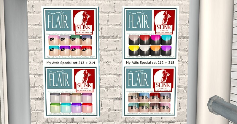 Flair - Nail Sets (Slink avatar enhanced appliers ) @ My Attic