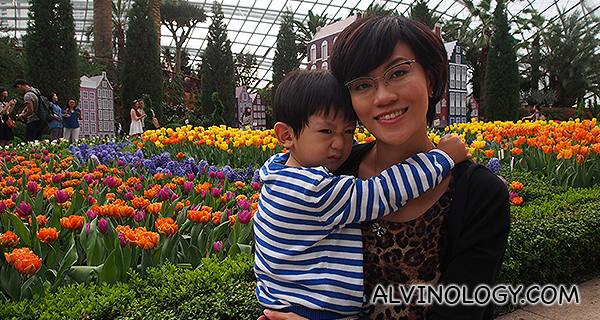 Rachel and Asher at Tulipmania