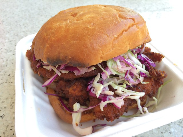 The bacon fried chicken sandwich - Bacon Bacon