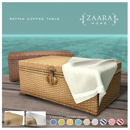 Zaara for Summer Fest '14 - Rattan coffee table