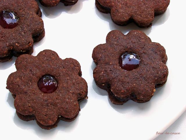 шоколадное печенье с желе 2