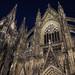 Cologne cathedral at night. Koln, Germany