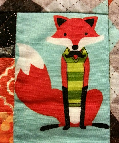 Foxy the schnitzel & boo mini quilt swap!