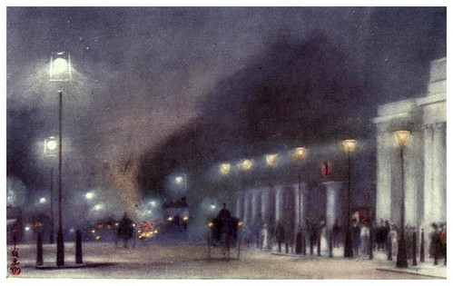 001-Esquina de Hyde Park-A Japanese artist in London (1910)- Yoshio Markino