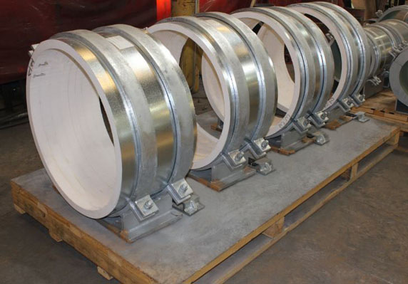 Pre-Insulated Pipe Supports Designed for High Temperatures in a Power Plant