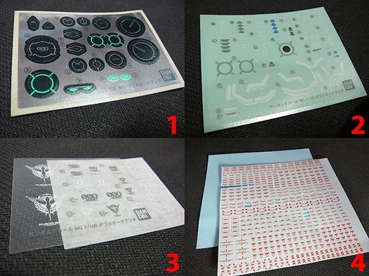 3 loại Decal nước, decal dán, decal cà dùng chơi Gundam-Gunpla