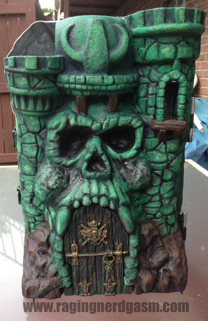 RNG Custom Paint Master of the Universe Castle Gray Skull by Ana Khayos - Completed