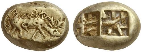 253 – Phanes (Ephesos / Ionia). Electrum trite