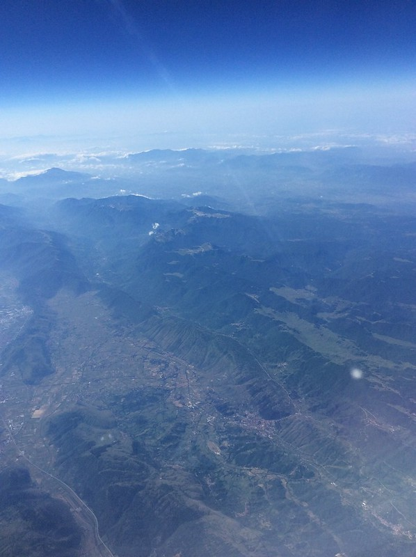 Italy from a plane window