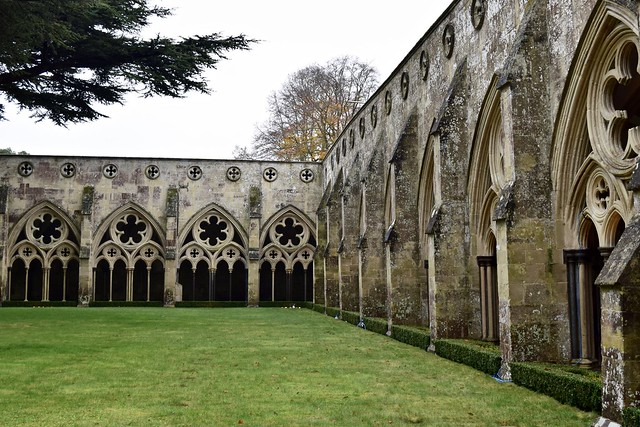 Courtyard of Salisbury Cathedral