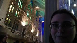 Bild av Basilica de la Sagrada Família nära Gràcia. barcelona
