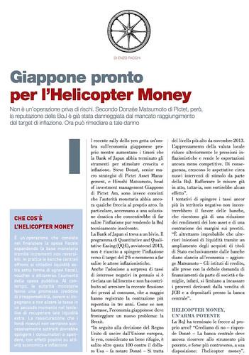 GIAPPONE PRONTO PER L'HELICOPTER MONEY di Enzo facchi