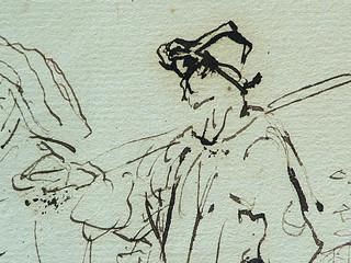 MILLET Jean-François,1850 - Départ pour le Travail, Etude - The Walk to Work  (drawing, dessin, disegno-Louvre RF11191) - Detail 41