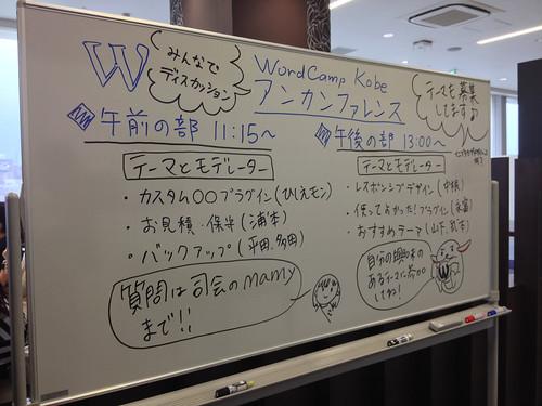 WordCamp Kobe 2013 アンカンファレンスの呼びかけボード