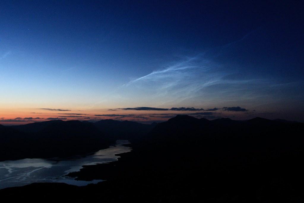 Noctilucent clouds above Loch Etive
