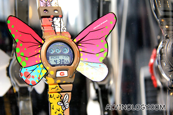 G-SHOCK with butterfly wings
