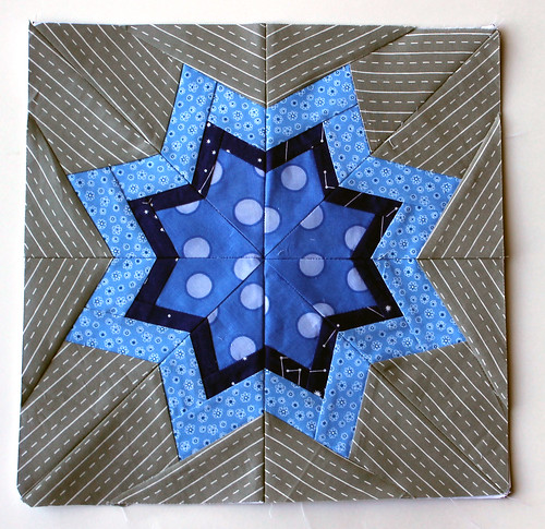 Bright star quilt block