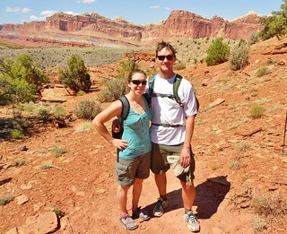 Clare & Dennis in Capitol Reef National Park
