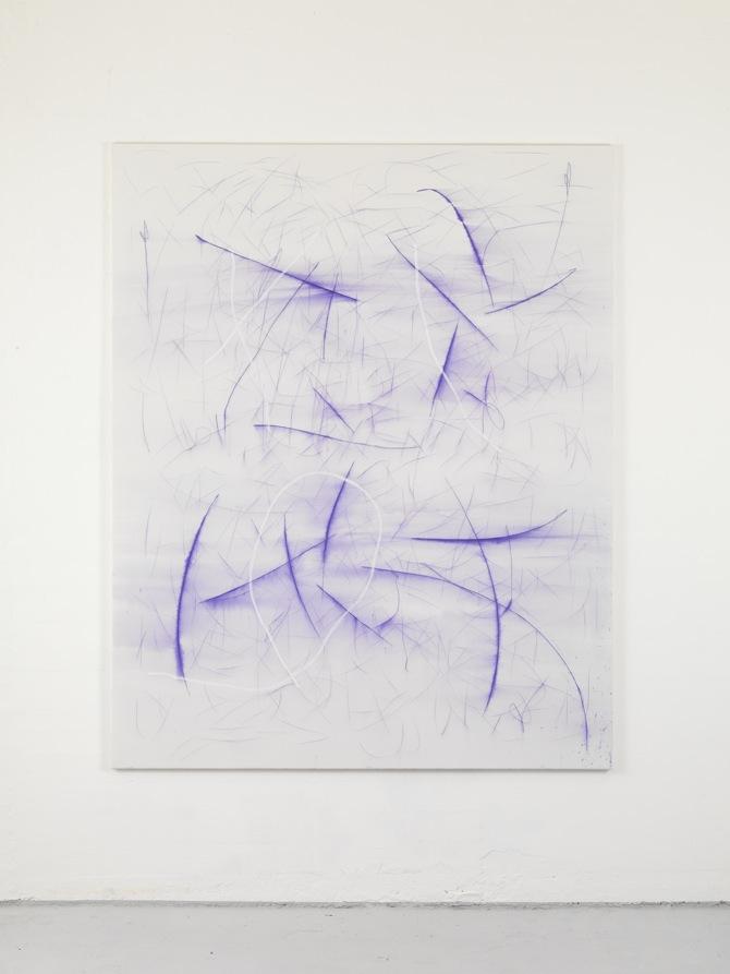 9 Jana Schröder, Spontacts, L 5, 2012, 200 x 160 cm, Kopierstift und Öl auf Leinwand
