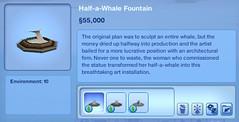 Half a Whale Fountain