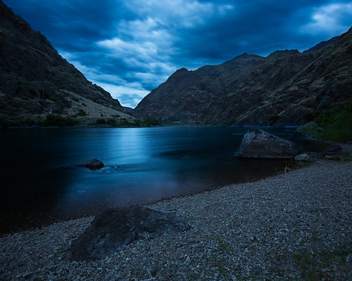night river landscape day cloudy canyon wilderness hells