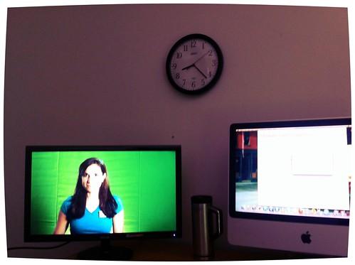 Green screen in the studio