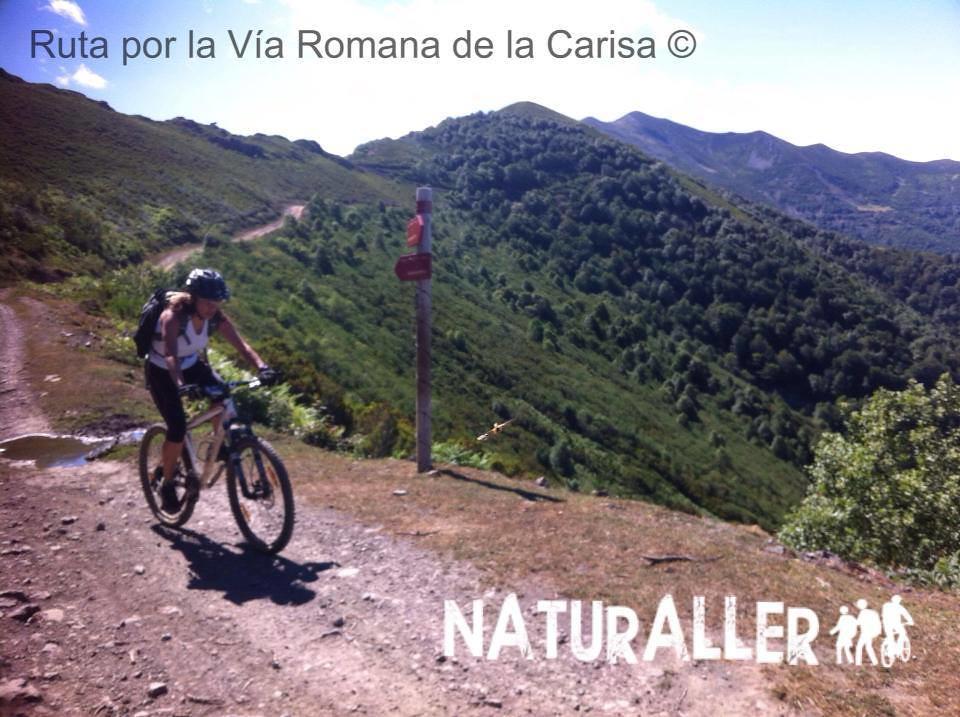 Mountain Bike por la Vía Romana de La Carisa