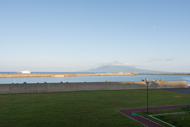 礼文島 うすゆきの湯からの眺め