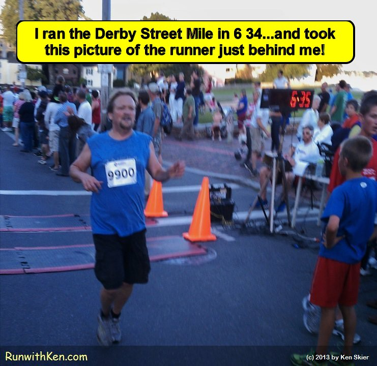 That moment we all live for--the Finish Line!  Runner at the Derby Street Mile in Salem, MA. by runwithken