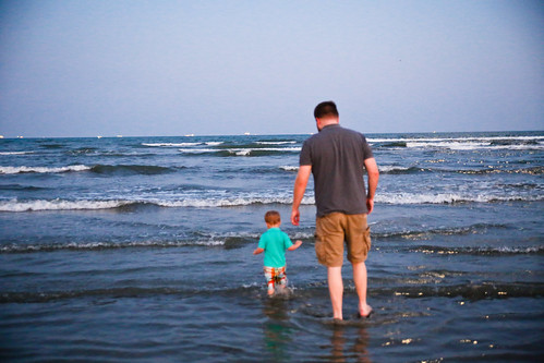 Dad and Toddler in the Ocean